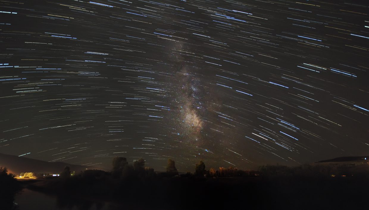 A composite of 40 star photos looking at the milky way. Submitted by: Dan Tullos