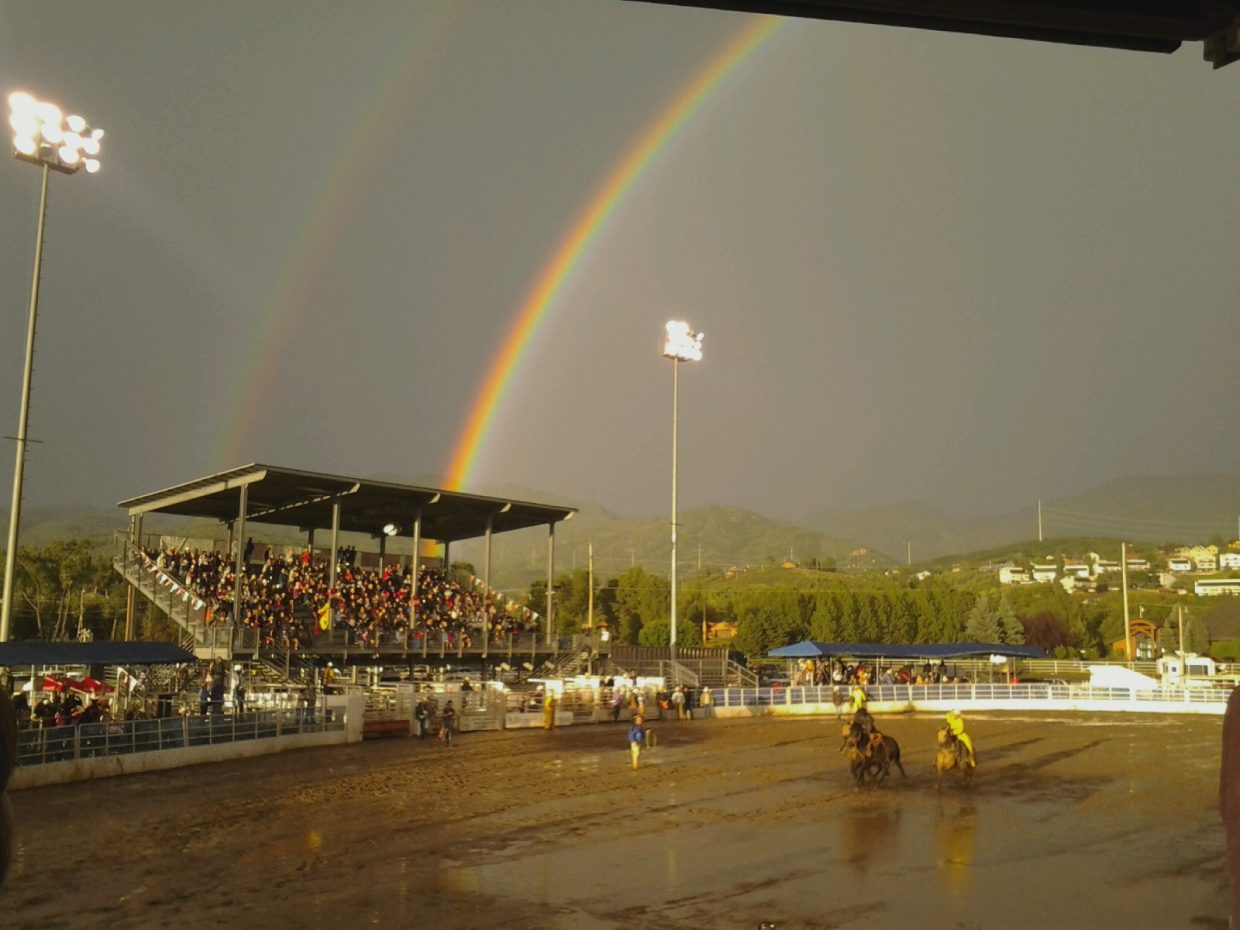 Rodeo rainbow. Submitted by: Ed Becker