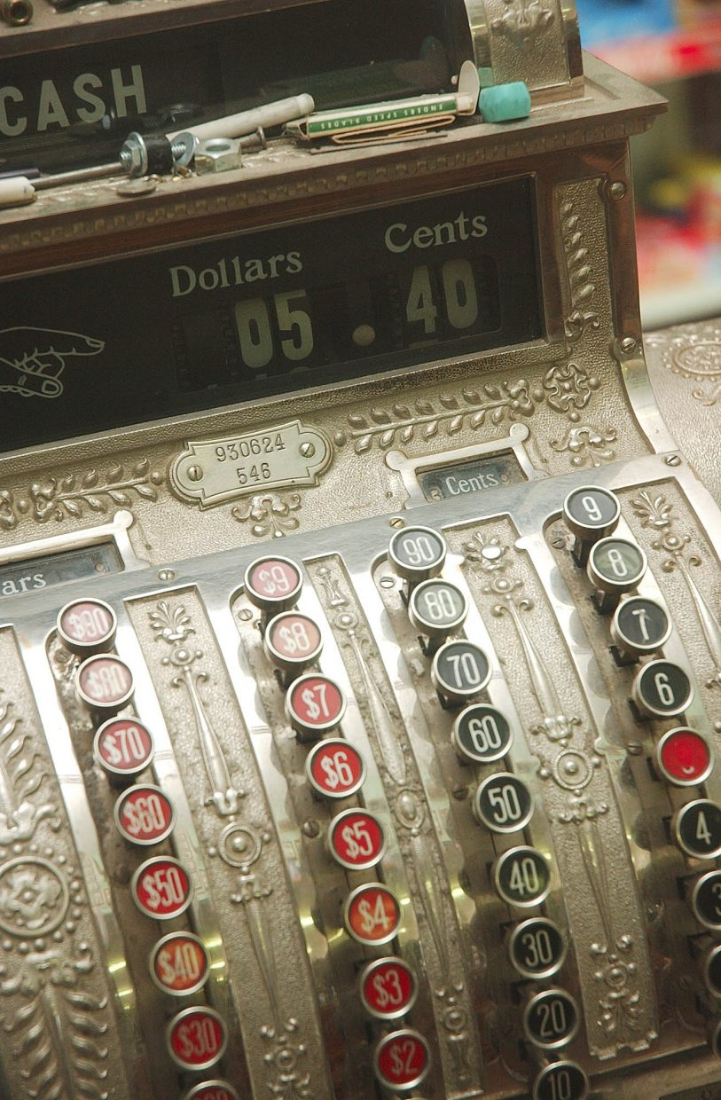 Ken Montgomery thinks the cash register still used today is more than 100 years old.