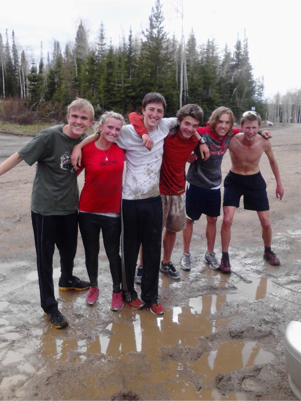 Track team out on a run in classic spring conditions. These kids will be ready for the Mud Run in July if they keep this up. Submitted by Greg Long