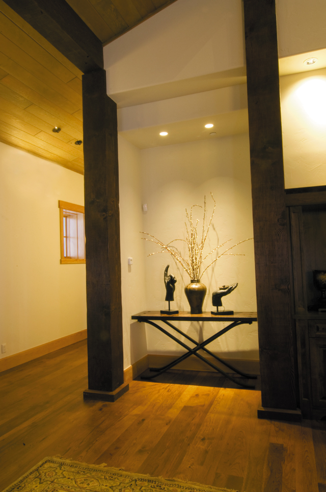 A nook just off the great room greets visitors.