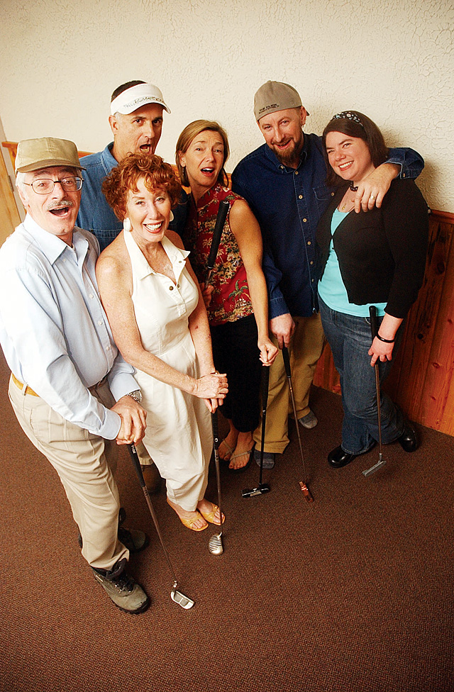 """Cesare F. Rosati, Seth Bograd, Eileen Jones, Patty Zimmer, Paulie Anderson and Michelle Hess make up part of the cast of """"Games People Play: The One Acts Are Back!"""" that will begin Thursday night at the Steamboat Springs Mountain Theater."""