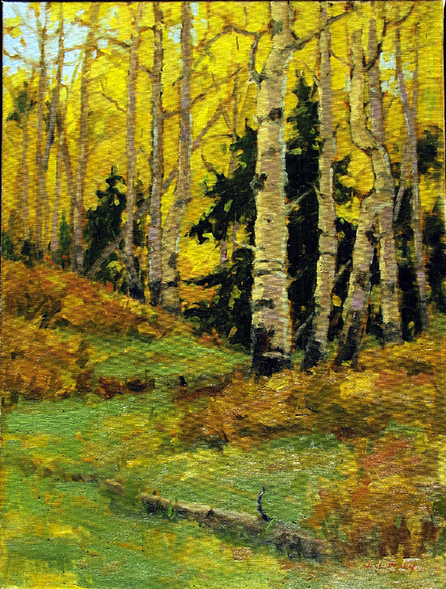 """""""Fall Colors,"""" oil on linen by Jean Perry."""