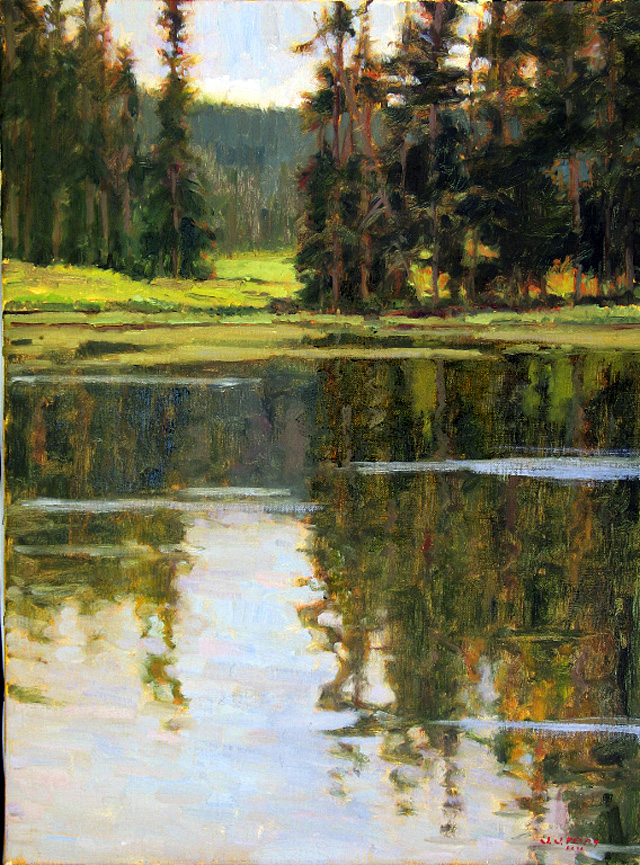 """""""Golden Reflections,"""" oil on linen by Jean Perry."""