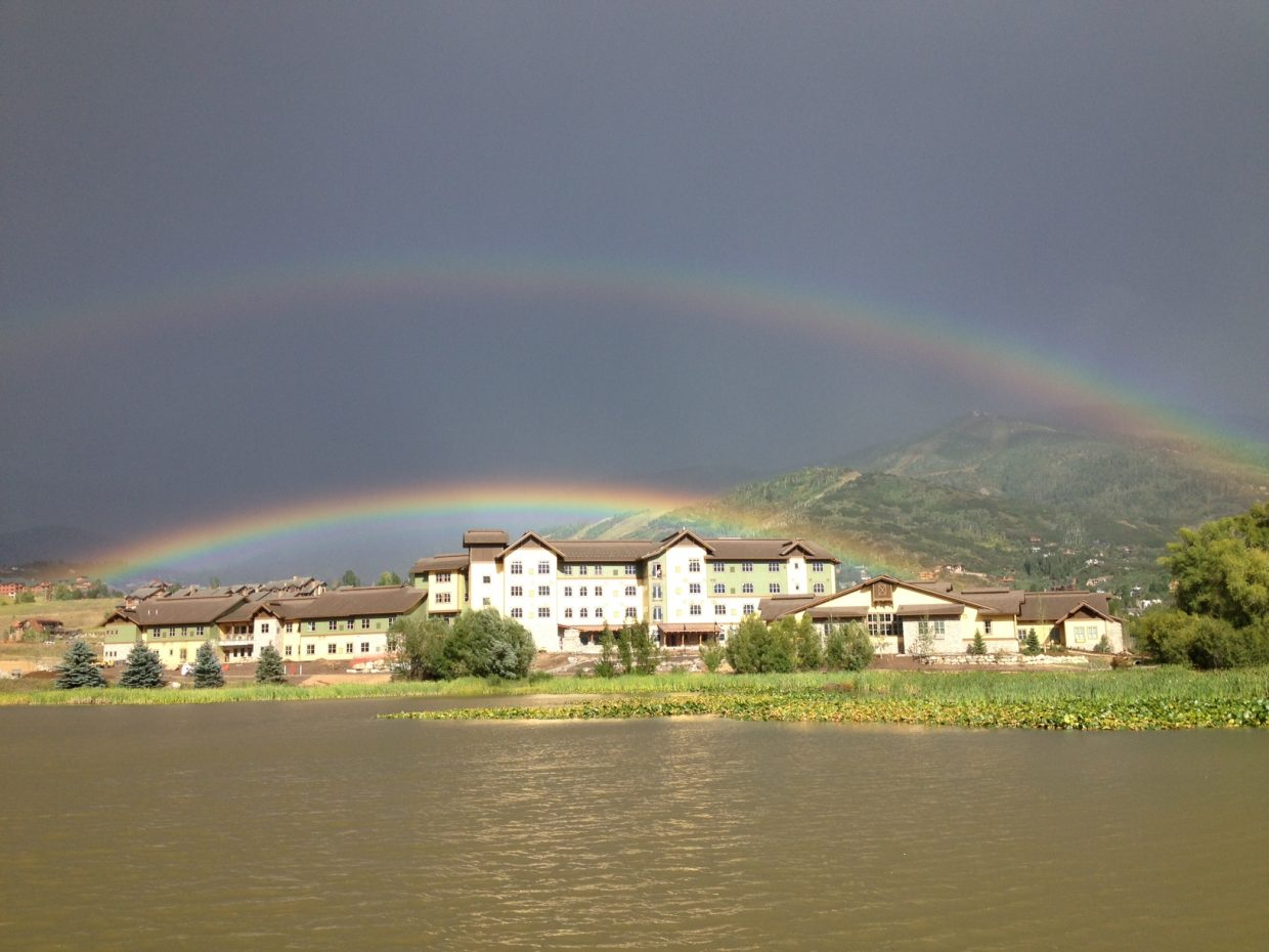 Casey's pond double rainbow. Submitted by: Kelly Ornberg