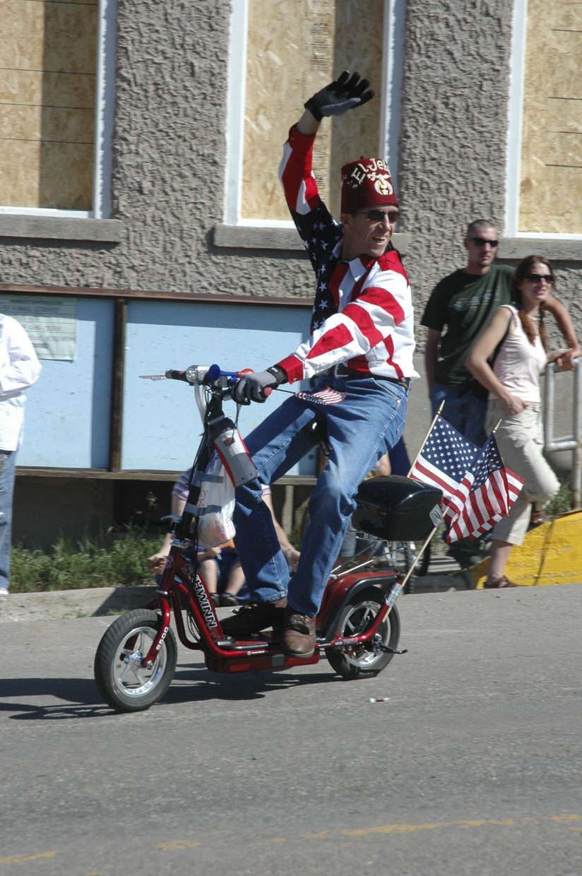 The Shriners were among several groups that participated in Oak Creek's Labor Day parade Monday.