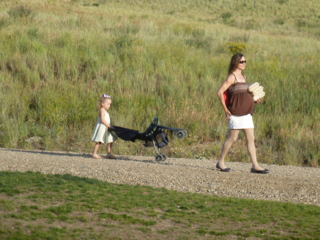 """Big sister's anticipation: Taken at the """"above ground"""" Burgess Creek near Gondola Square. Submitted by: Peter Hinch"""
