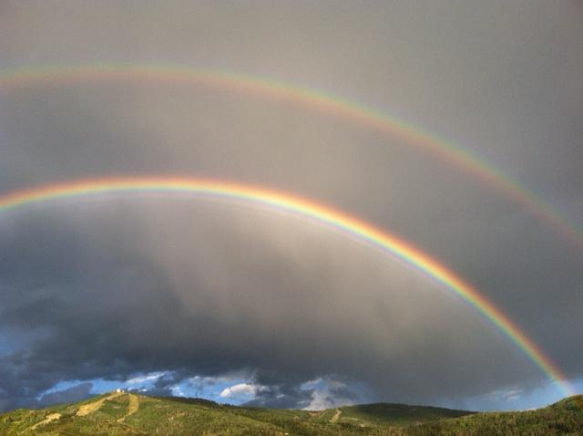 Double rainbow. Submitted by: Curt Merchant