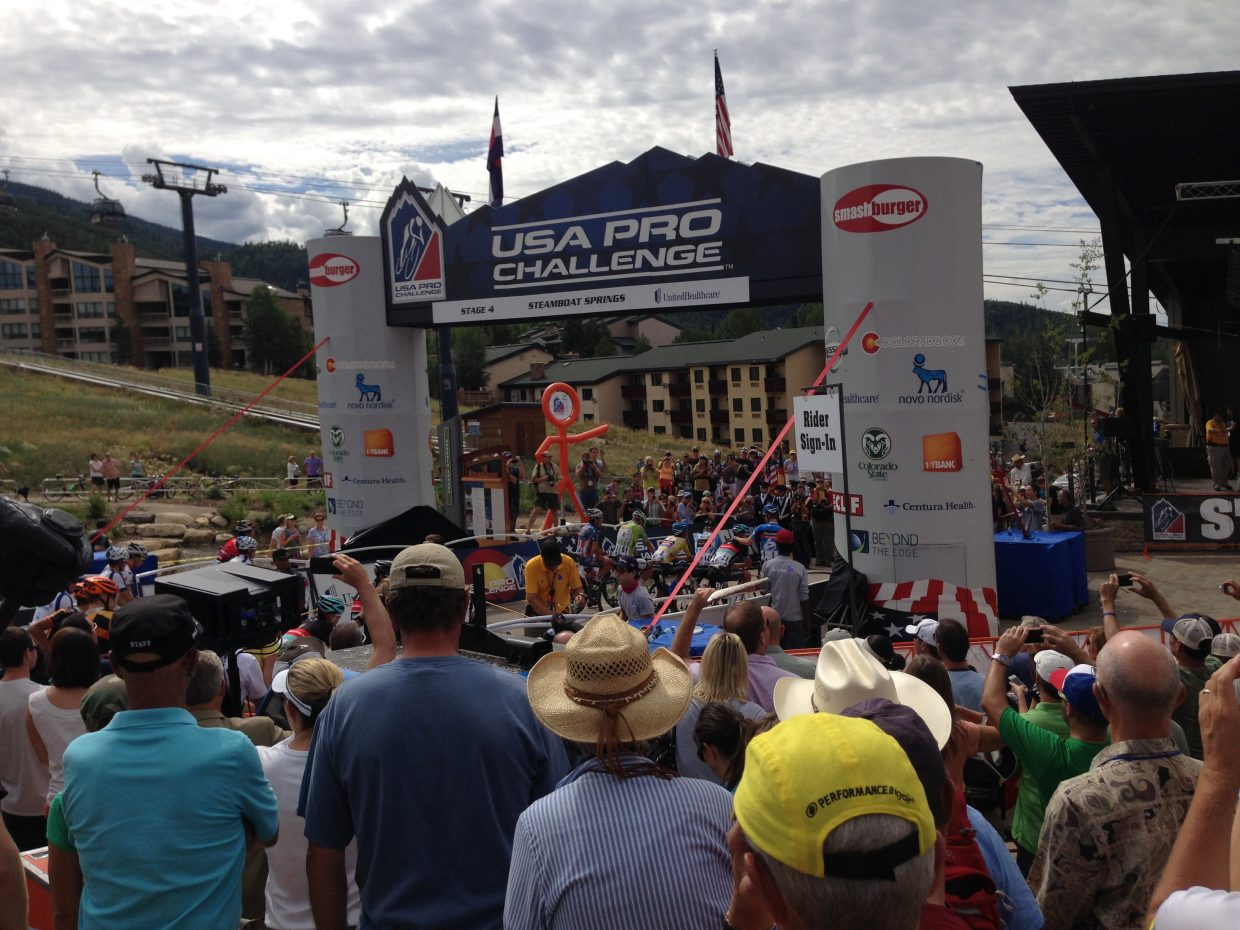 Leaders at the start for the USA Pro Challenge. Submitted by: Craig Canon