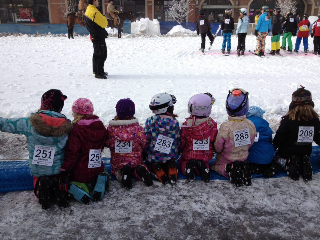 Participants waiting for the turn at the Winter Carnival street events. Submitted by: Kellie Hisey