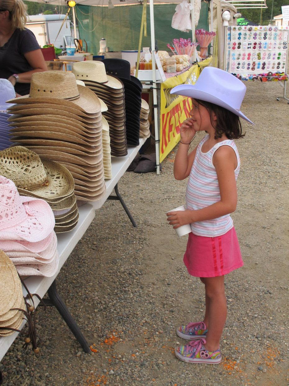 Sophie Cowman goes to the fair. Submitted by: Jan Fisher of Colleyville, Texas
