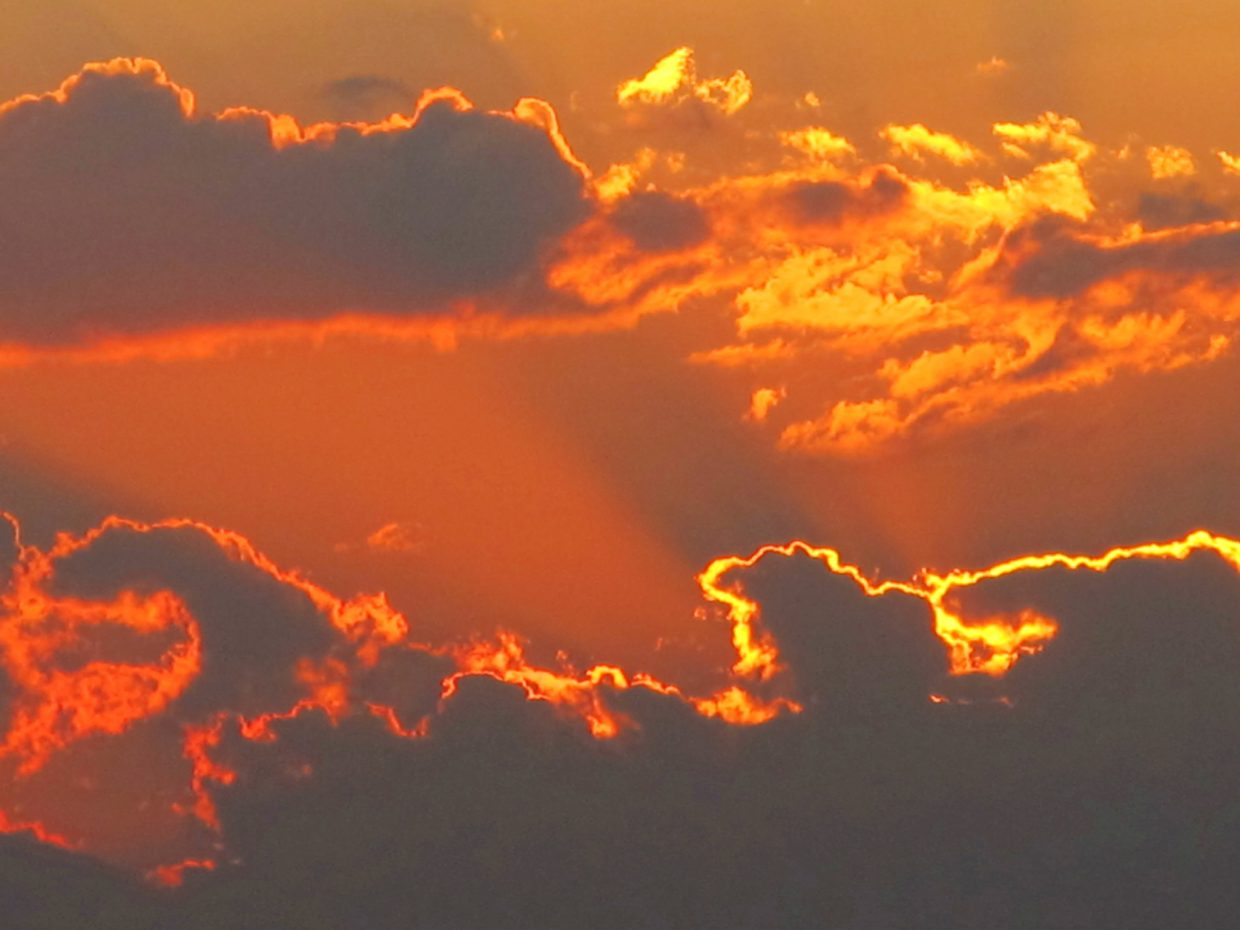 Glorious sunset. Submitted by: Jan Fisher of Colleyville, Texas
