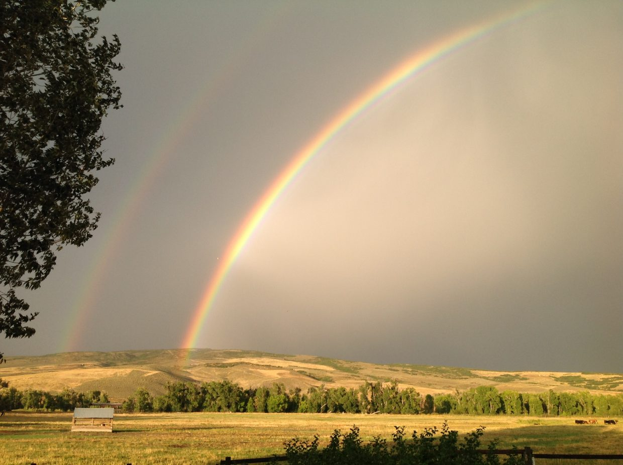 Rainbow at Carpenter Ranch. Submitted by: Amy Kaczur