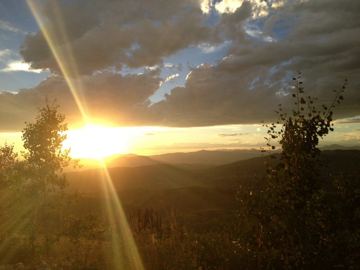 Sunset while camping on Buff Pass. Submitted by: Alyssa Retzena