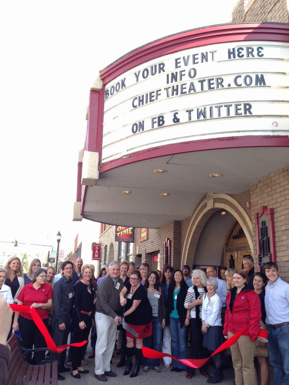 Chief Theater ribbon cutting. Submitted by: Nicole Inglis