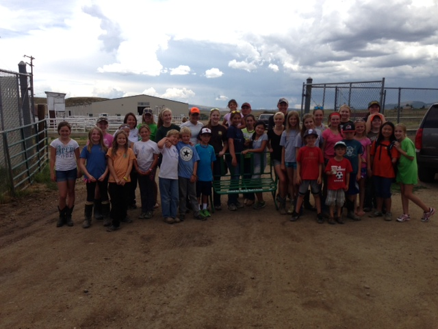 High Point 4H Club helped clean up the Routt County Fairgrounds on Tuesday to get ready for the fair and then donated benches to the fairgrounds that they had scraped and painted. Please come support all of these kids at the fair! Submitted by: Lauren McLaughlin