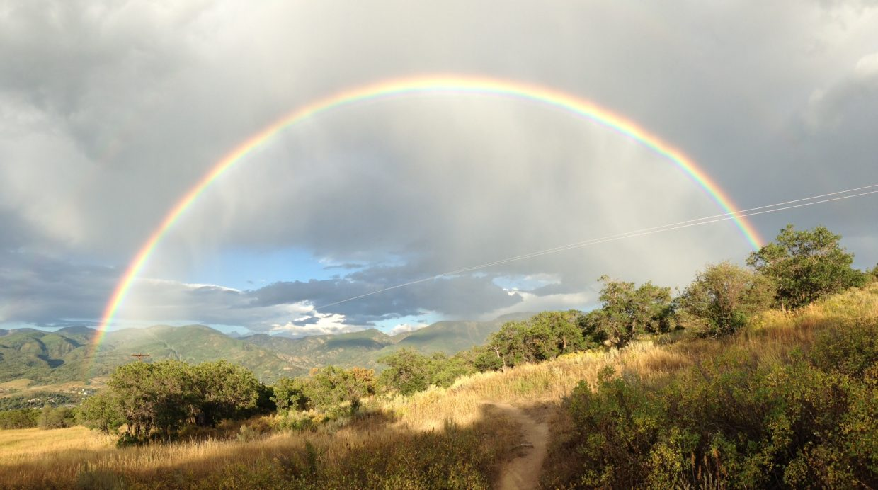 Full rainbow over Howelsen. Submitted by: Peter Kalmes