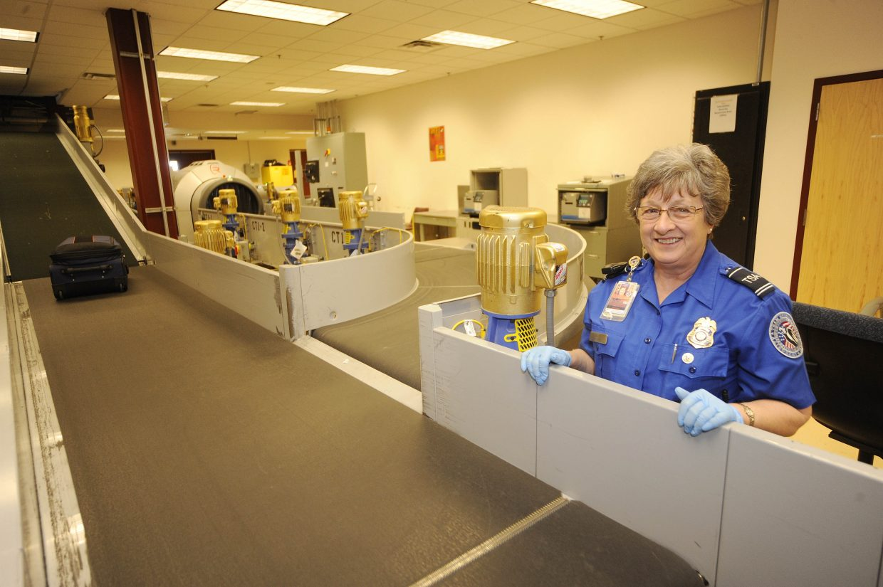 Transportation Security Administration lead officer Bobbie Wagner said between six and eight people will be working in the baggage screening area during peak travel times at Yampa Valley Regional Airport.