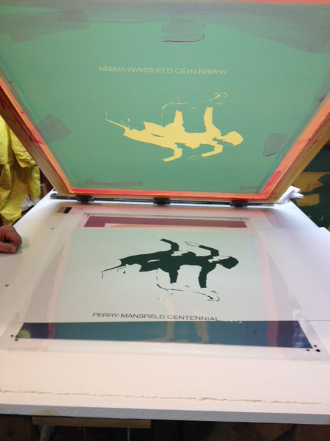 A team of local artists worked this week to silk screen re-creations of four works of art from Perry-Mansfield Performing Arts School and Camp archives to use as a fundraiser for the school's 100th anniversary next summer.