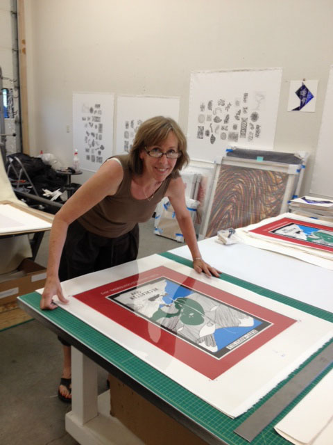 Local artists like master printmaker Sue Oehme pitched in on the project.