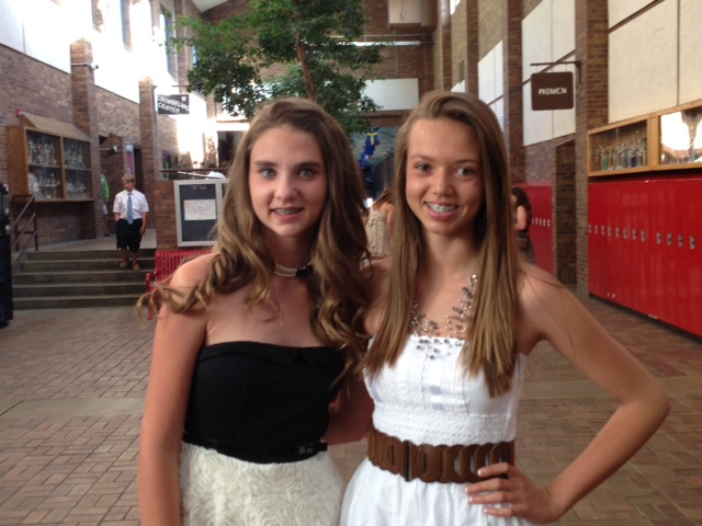 Tuesday's eighth-grade graduation. Kayla Anderson on the left and Sydney Weber on the right. Submitted by: Sarah Anderson