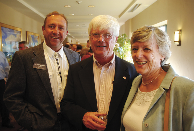 Ken Brenner, from left, and Dan and Kitty Ellison at the Carpenter's Ball on May 17.
