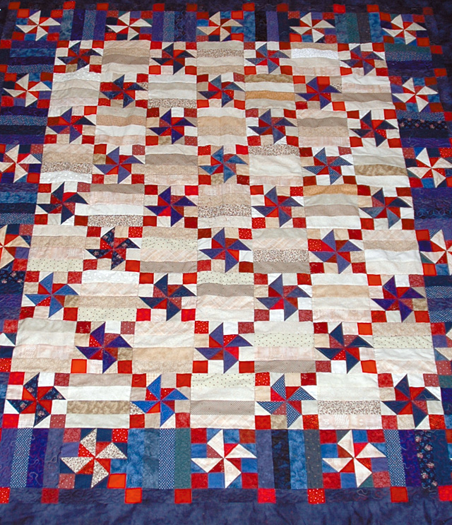 Unfinished quilt Tina Segler is making for the Routt County Democratic Party Jefferson/Jackson potluck dinner and fundraiser on Saturday night.