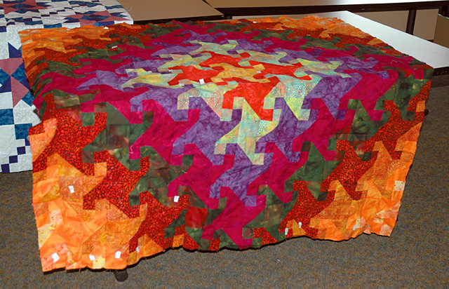 Unfinished quilt Tina Segler is making for her daughter Molly.