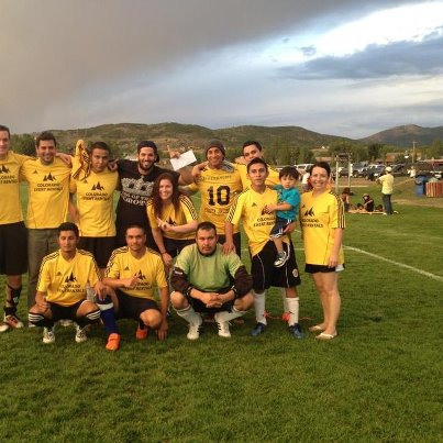 Colorado Event Rentals finishes an undefeated year with the championship by beating Creekside/Azteca/Edward Jones, 1-0.