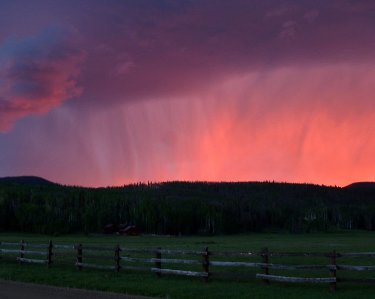 Storm at Steamboat Lake. Submitted by: Gail Hanley