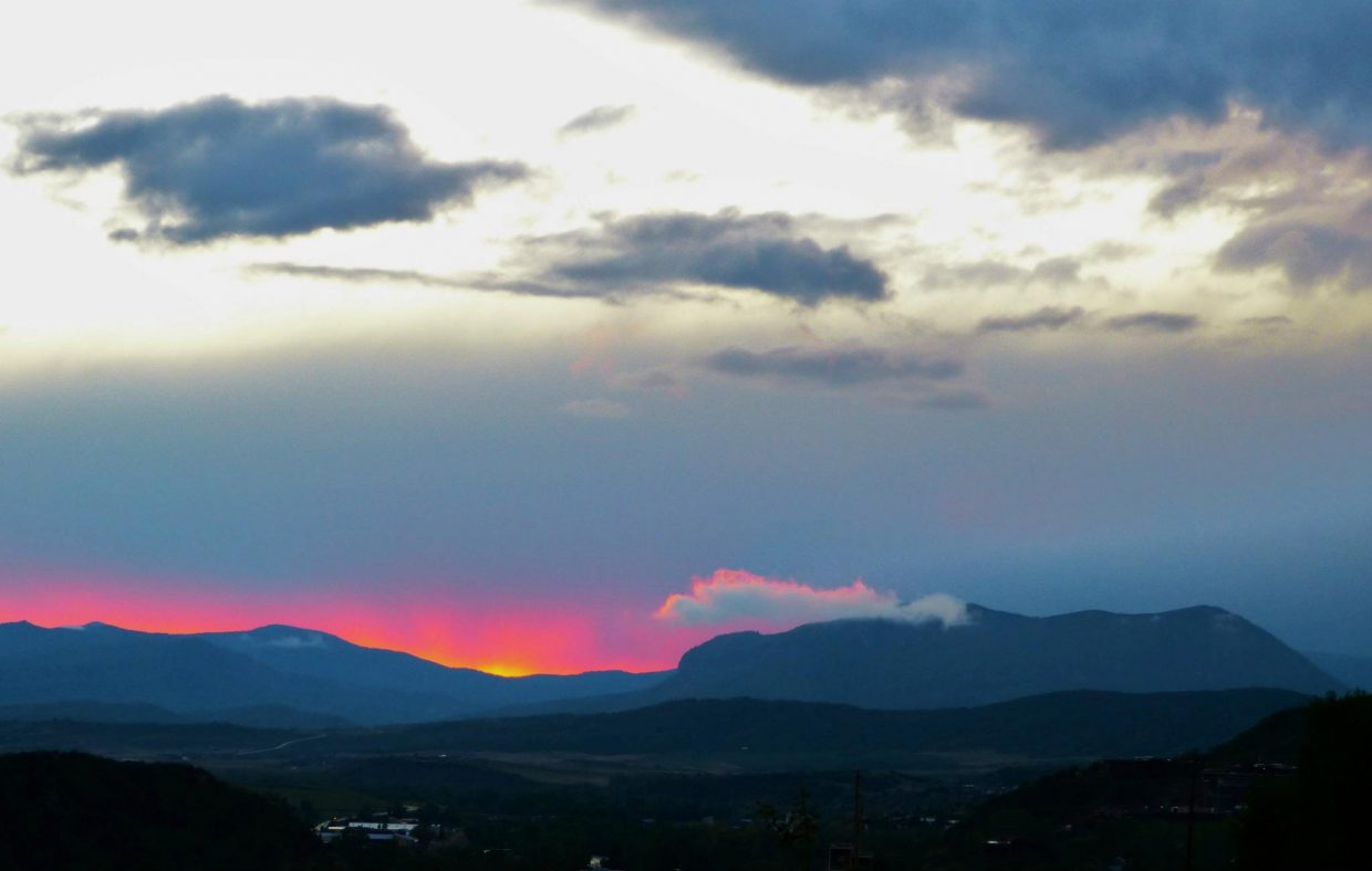 Sunset over Sleeping Giant on May 23. Submitted by Matt Helm