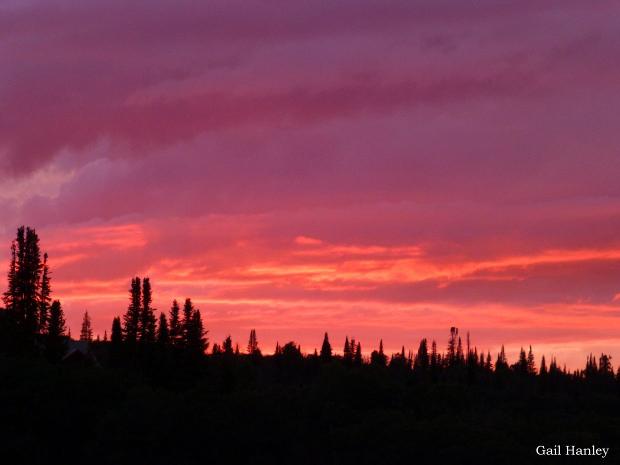 Friday sunset from Hilton Gulch. Submitted by: Gail Hanley
