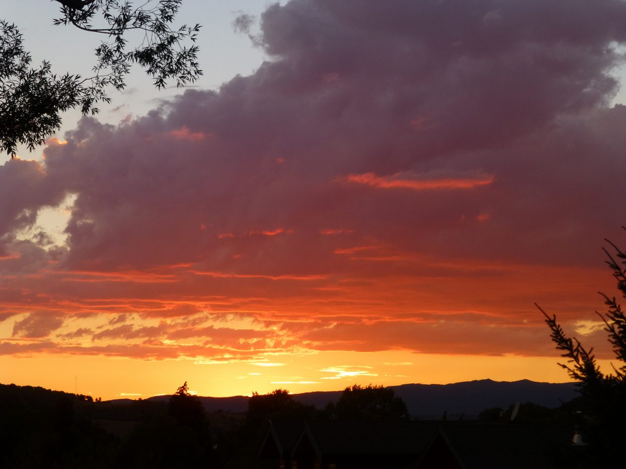 Wednesday sunset. Submitted by: Gail Hanley