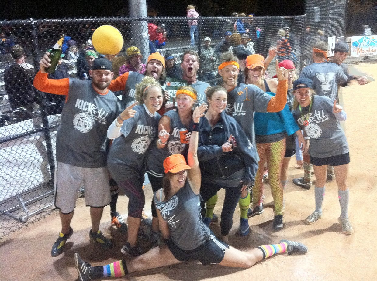 The defending champions That's What She Said won the tournament Saturday night.