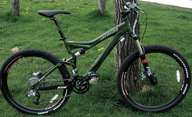 The modernized mountain classic, Specialized Stumpjumper FSR Comp, is for sale at Ski Haus, starting at $2,200.