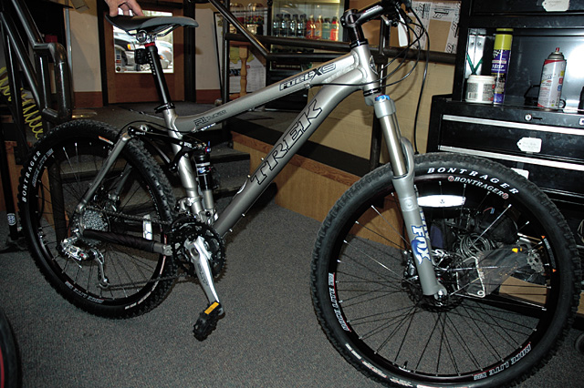 The Trek Fuel EX9, sold at Steamboat Bike Kare, is a loaded full-suspension bike around $2,000.