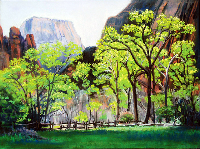 """Zion National Park,"" painting by Vickie Rosenzweig. She is one of the artists who are featured in the Steamboat Springs Arts Council's Artist Studio Tour on Saturday."