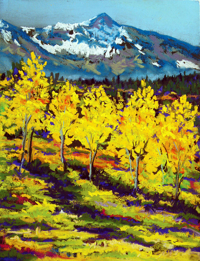 """Aspens,"" painting by Vickie Rosenzweig. She is one of the artists who are featured in the Steamboat Springs Arts Council's Artist Studio Tour on Saturday."