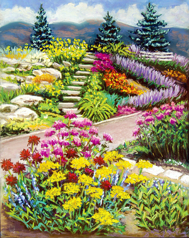 """Botanical Garden,"" painting by Vickie Rosenzweig. She is one of the artists who are featured in the Steamboat Springs Arts Council's Artist Studio Tour on Saturday."