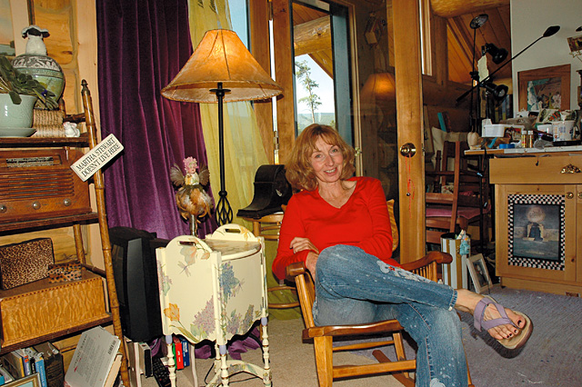 Mary Beth Galer sits in her studio on Lynx Pass. She is one of the artists who are featured in the Steamboat Springs Arts Council's Artist Studio Tour on Saturday.