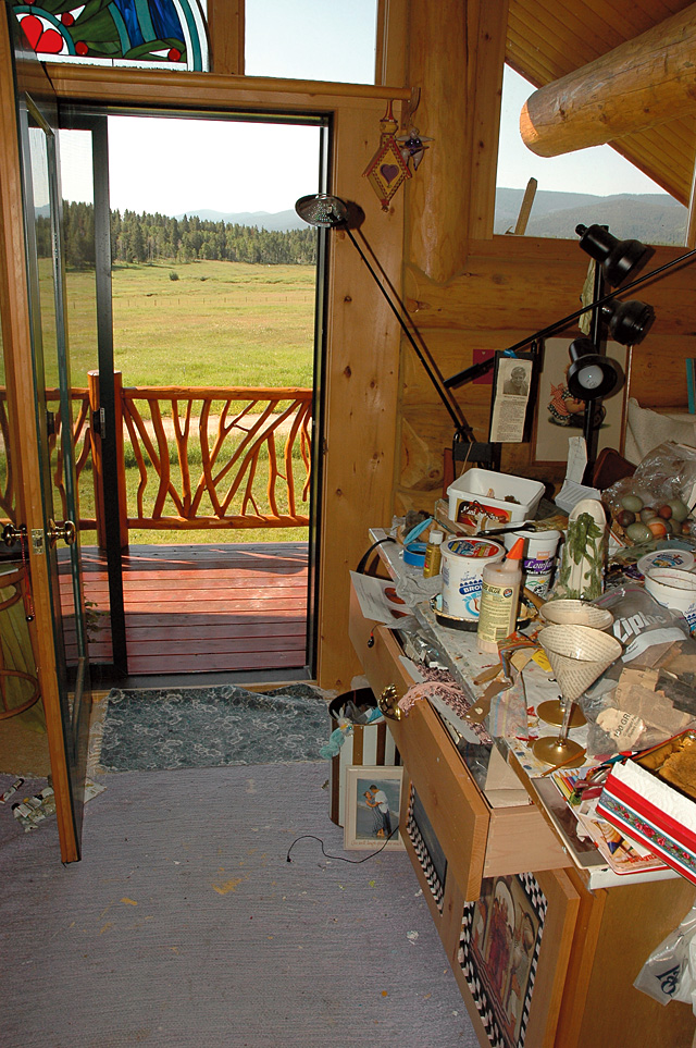 Part of Mary Beth Galer's studio on Lynx Pass. She is one of the artists featured in the Steamboat Springs Arts Council's Artist Studio Tour on Saturday.
