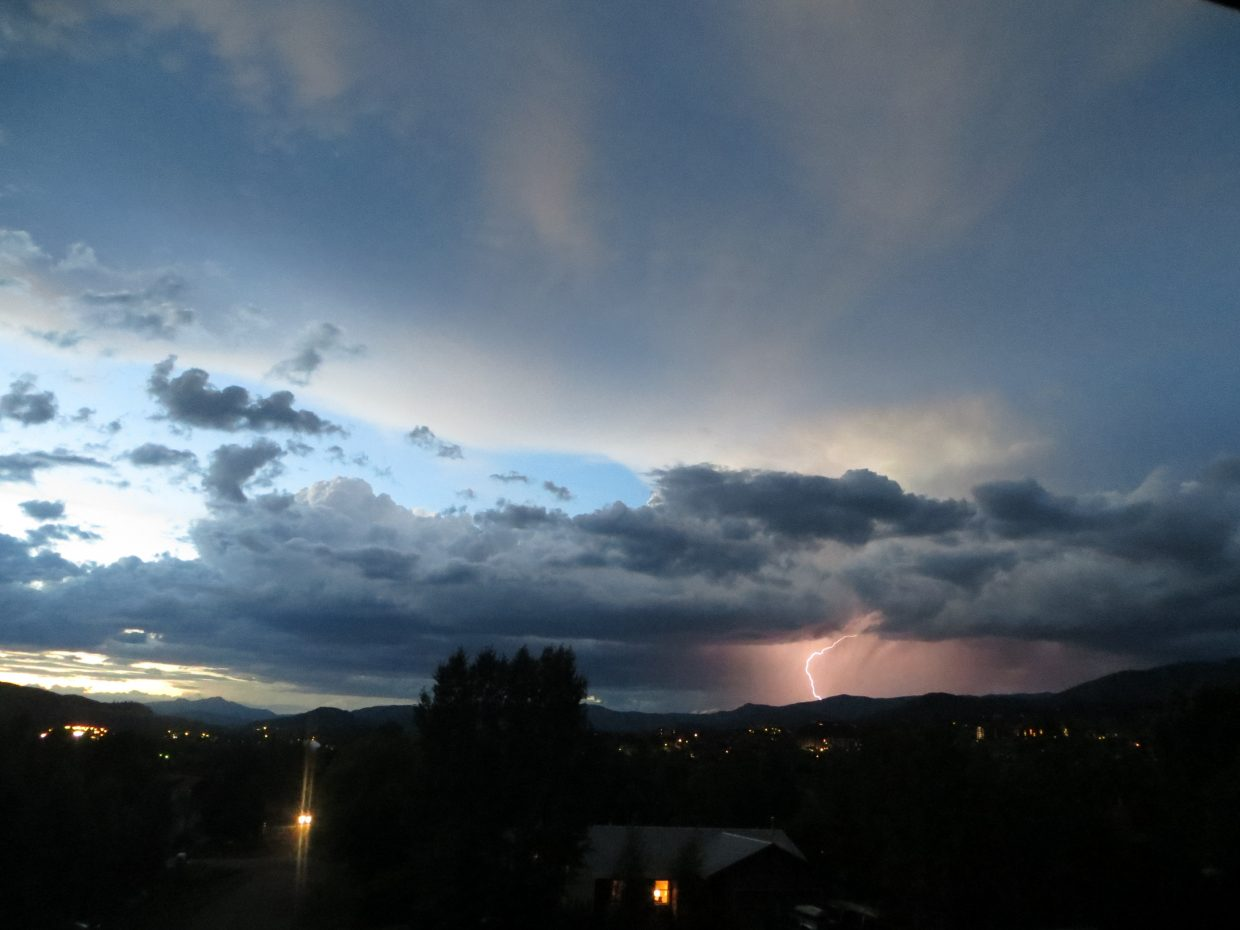 Wednesday's storm from Brome Drive. Submitted by: Kasey Kirkendall