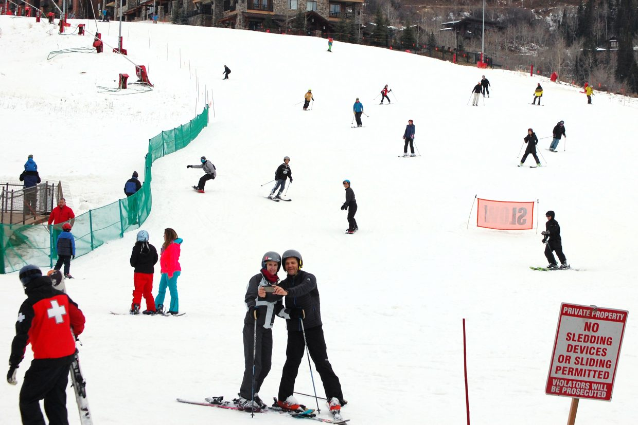 Opening day at Mt. Werner brings out locals and tourists for a day of fun.