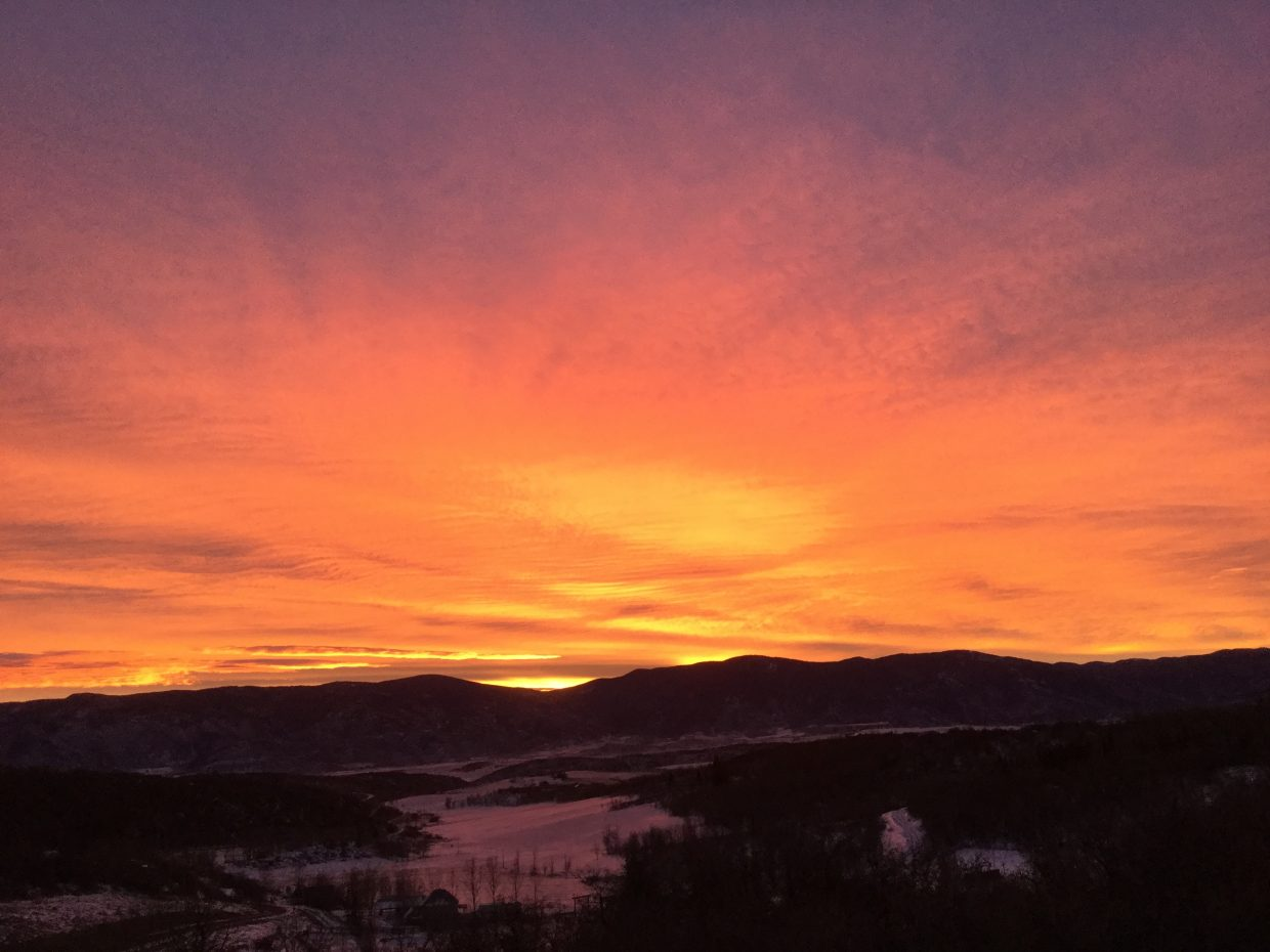 Steamboat Sunrise as seen in Whitewood.