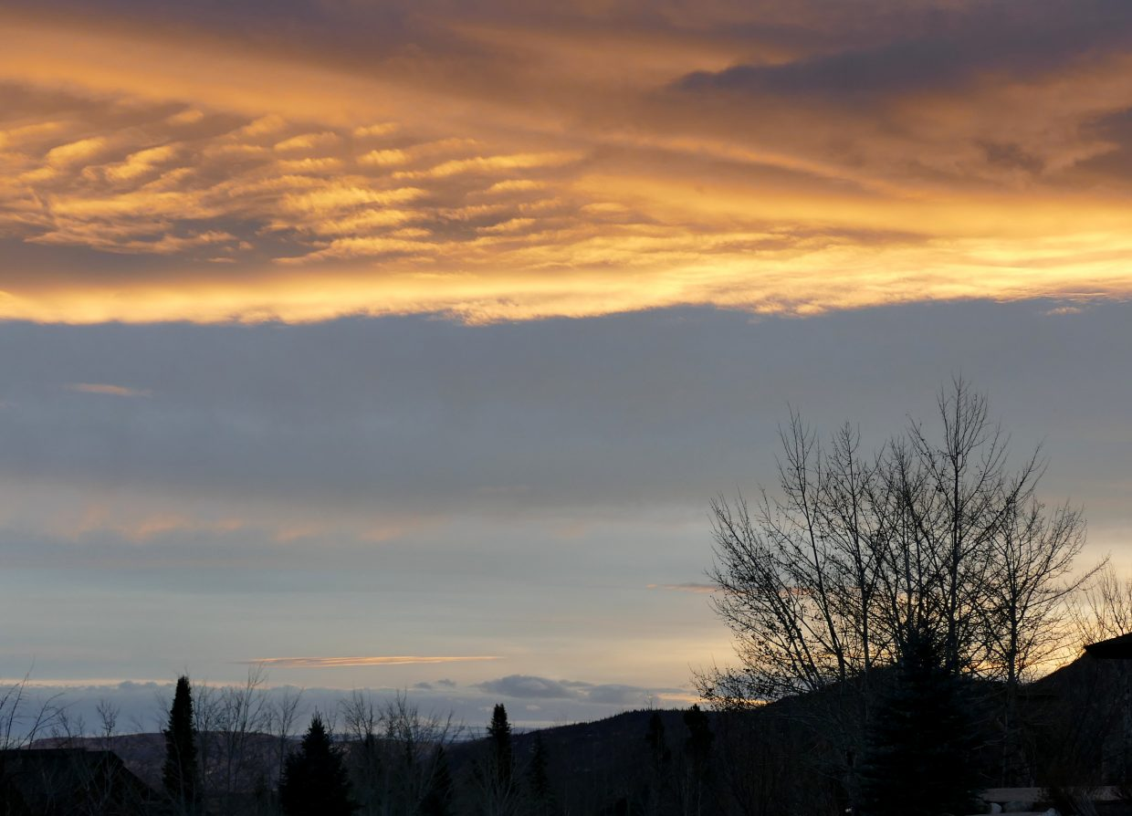 The clouds over Steamboat and the Yampa Valley were quite fascinating, as the sun was setting.