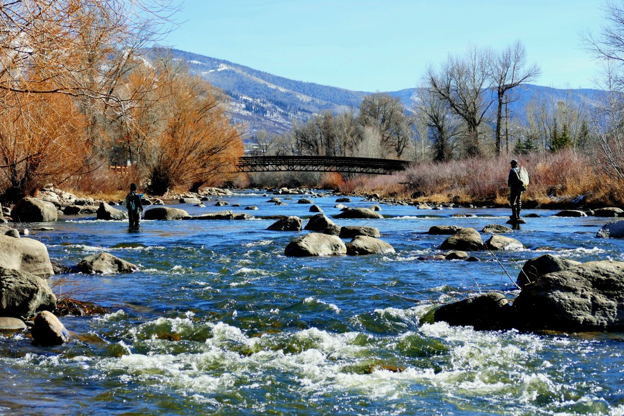 Family fishing trip on the Yampa River.