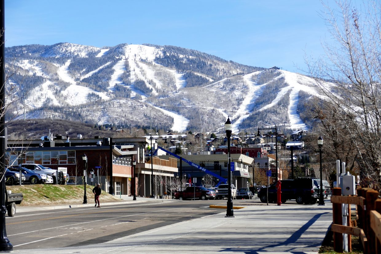 Snowy slopes of Steamboat Springs.
