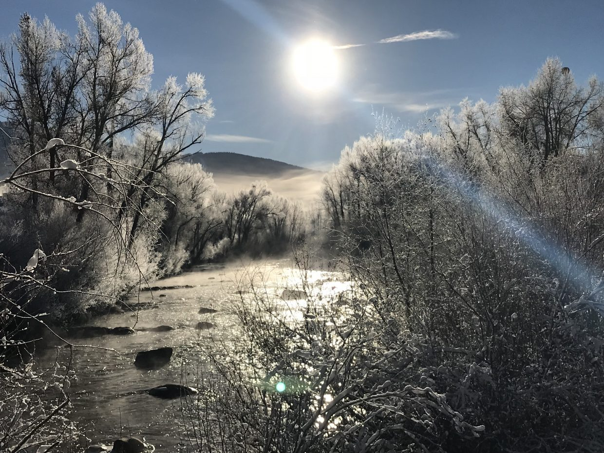A fine and frosty view