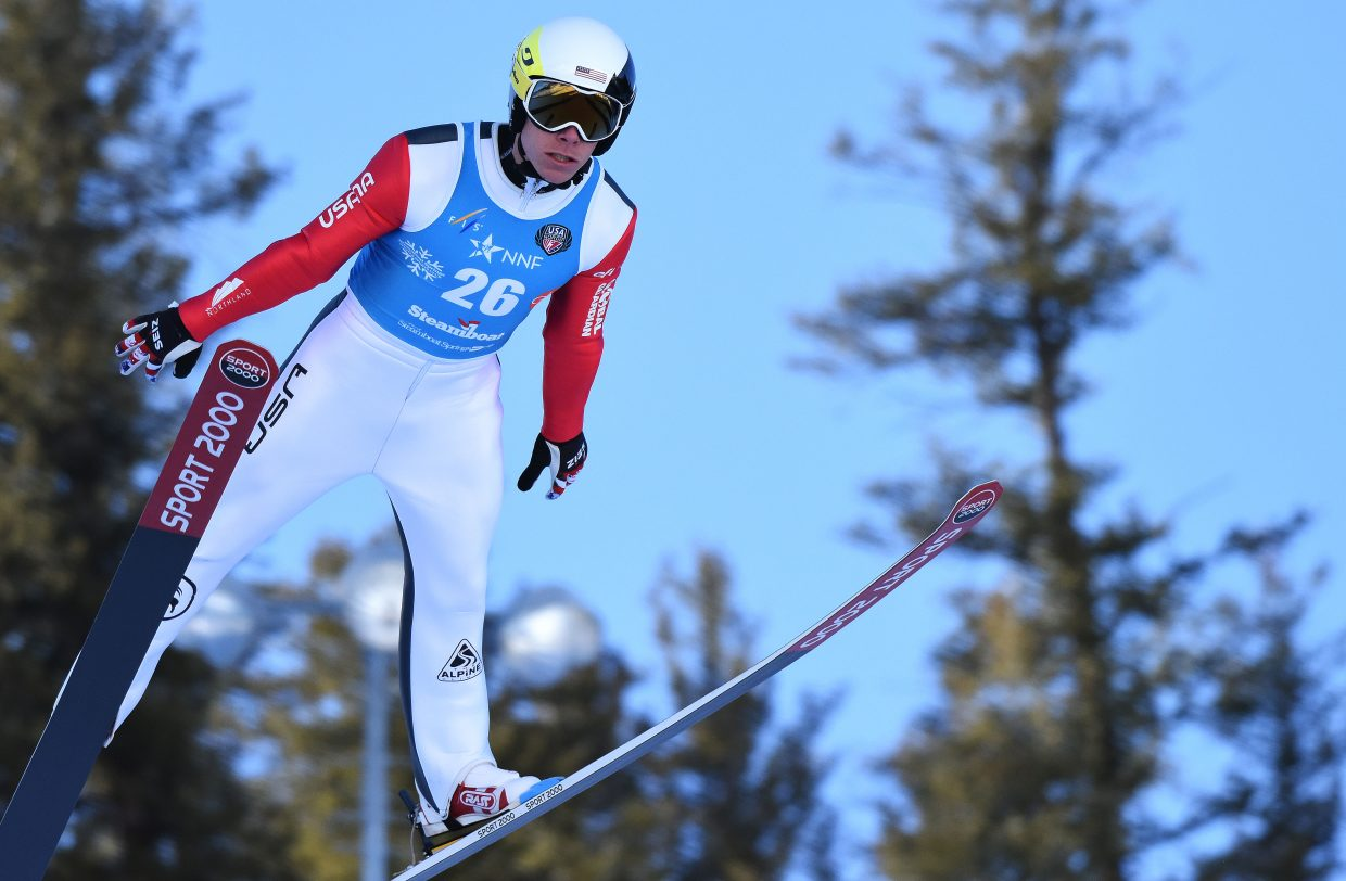 Ben Berend competes Friday in the Continental Cup in Steamboat Springs.
