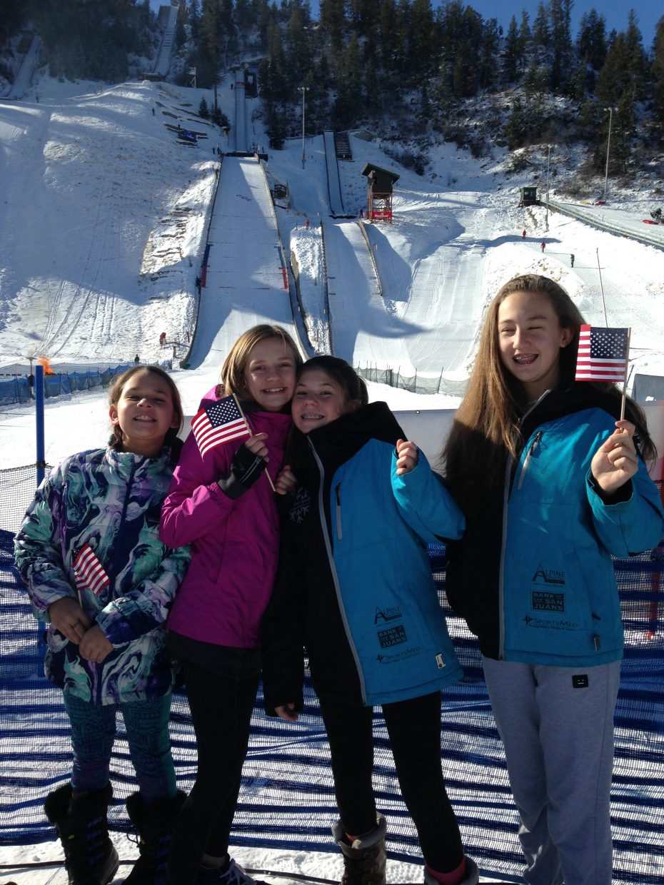 The entire student body from Emerald Mountain School attended the Continental Cup on Friday to cheer on all the athletes.